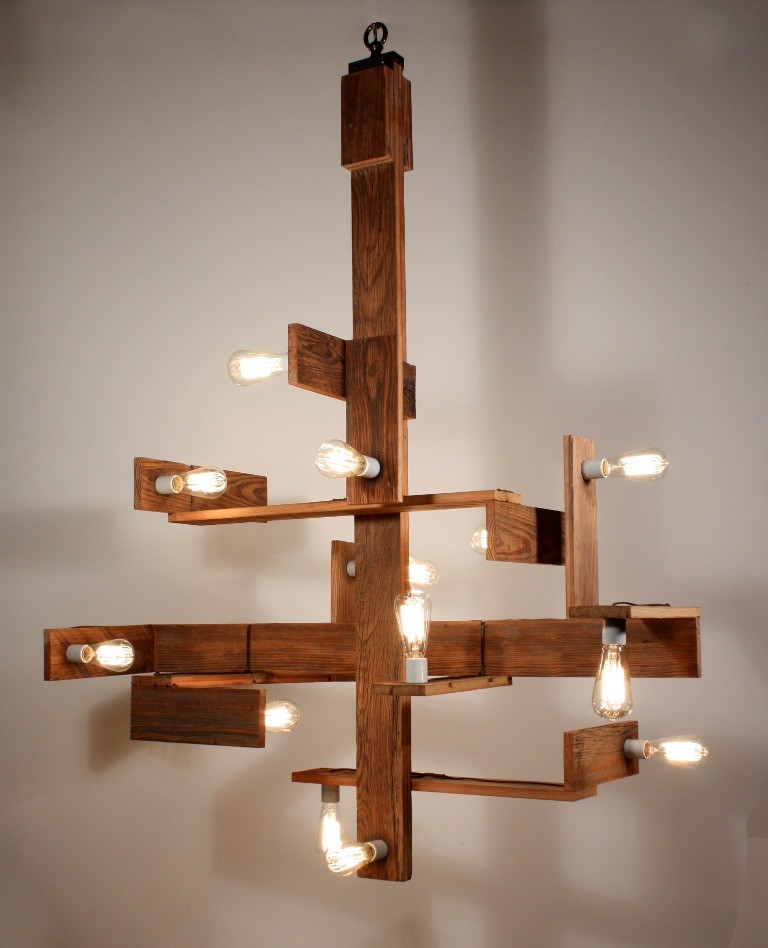 Costruisci e vernicia un lampadario in legno   Rio Verde -> Lampadario Fai Da Te In Legno
