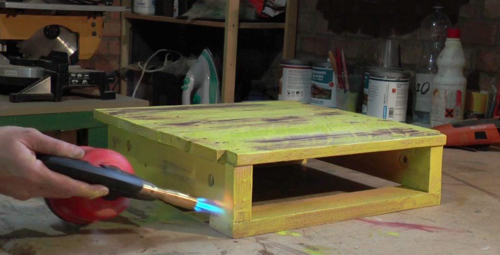 come verniciare il legno di un pallet