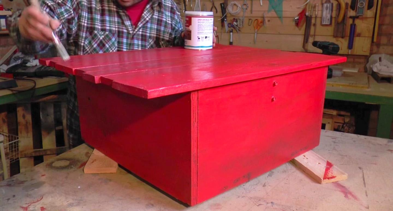 Verniciare un tavolino in legno con lo smalto all 39 acqua rio verde rio verde - Verniciare un tavolo in legno ...