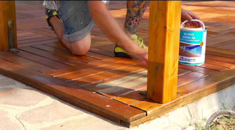 Come Scartavetrare Il Legno restaurare un gazebo in legno con hi-deck hydro oil - rio verde