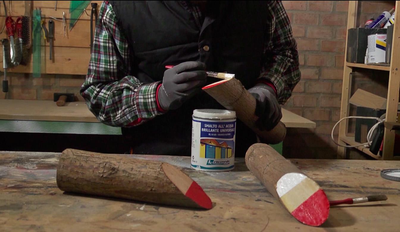 Realizzare un babbo natale in legno per le feste natalizie - Decorazioni natalizie in legno ...