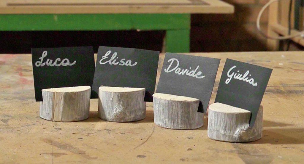 segnaposto in legno