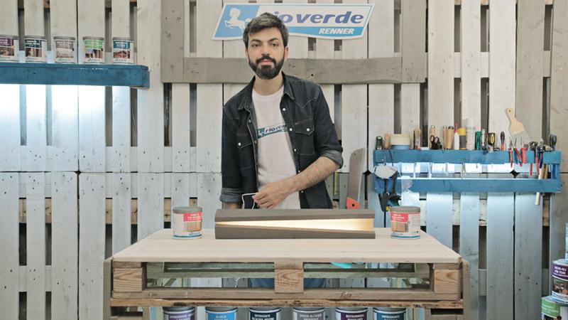 realizzare una lampada in legno