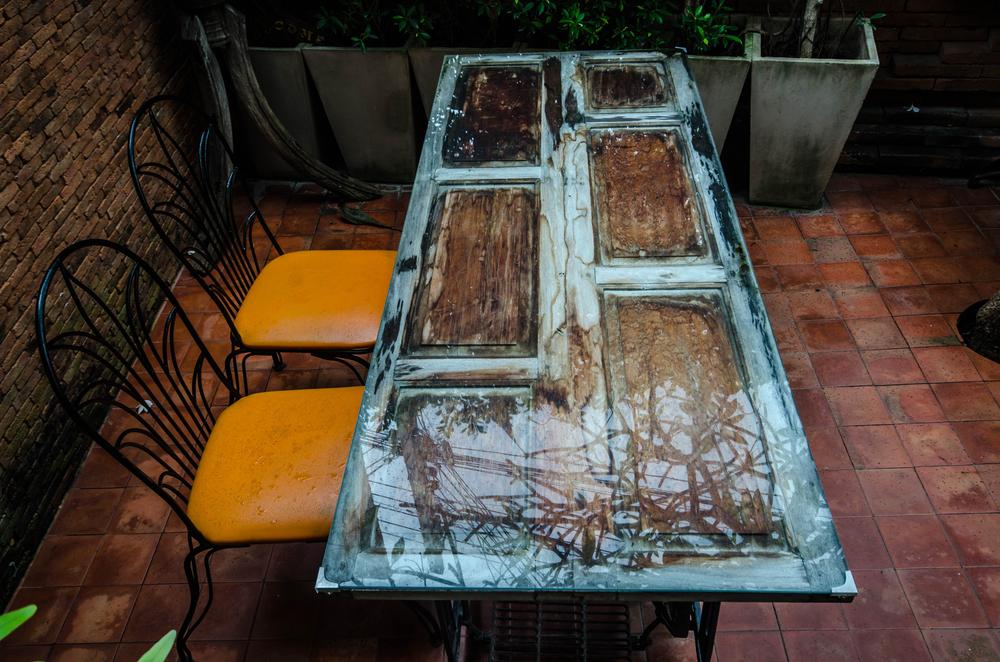 7 idee creative con legno e vernici per il legno all 39 acqua - La vecchia porta ...