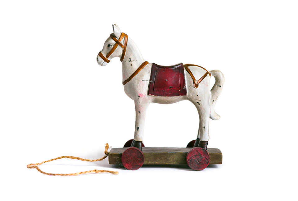 Cavallo A Dondolo Con Ruote.Pxn9leza Qtoqm