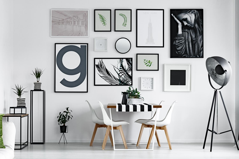 Tendenze colore 2021: spazio in bianco e nero