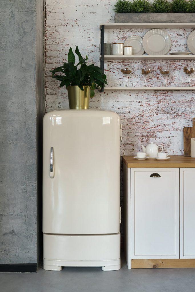 Come verniciare un frigorifero: colore neutro