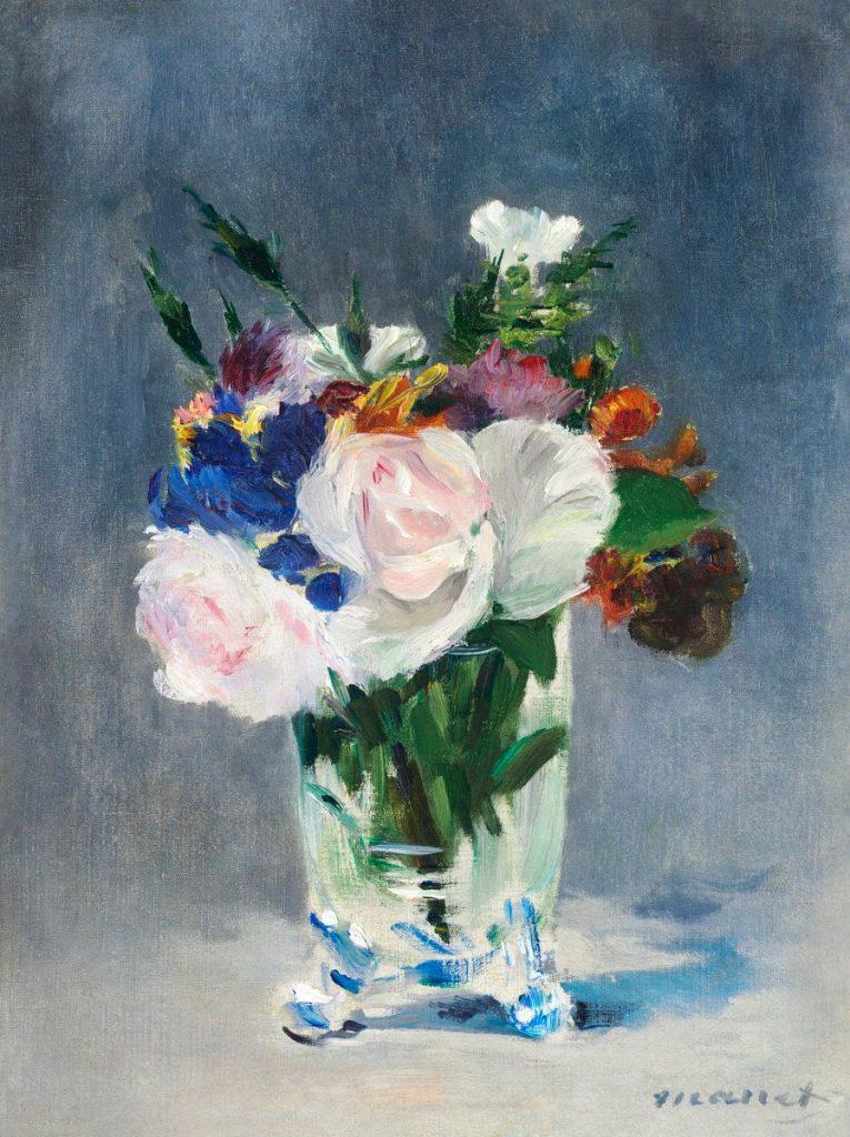 Immagini romantiche per San Valentino: vaso di fiori di Manet
