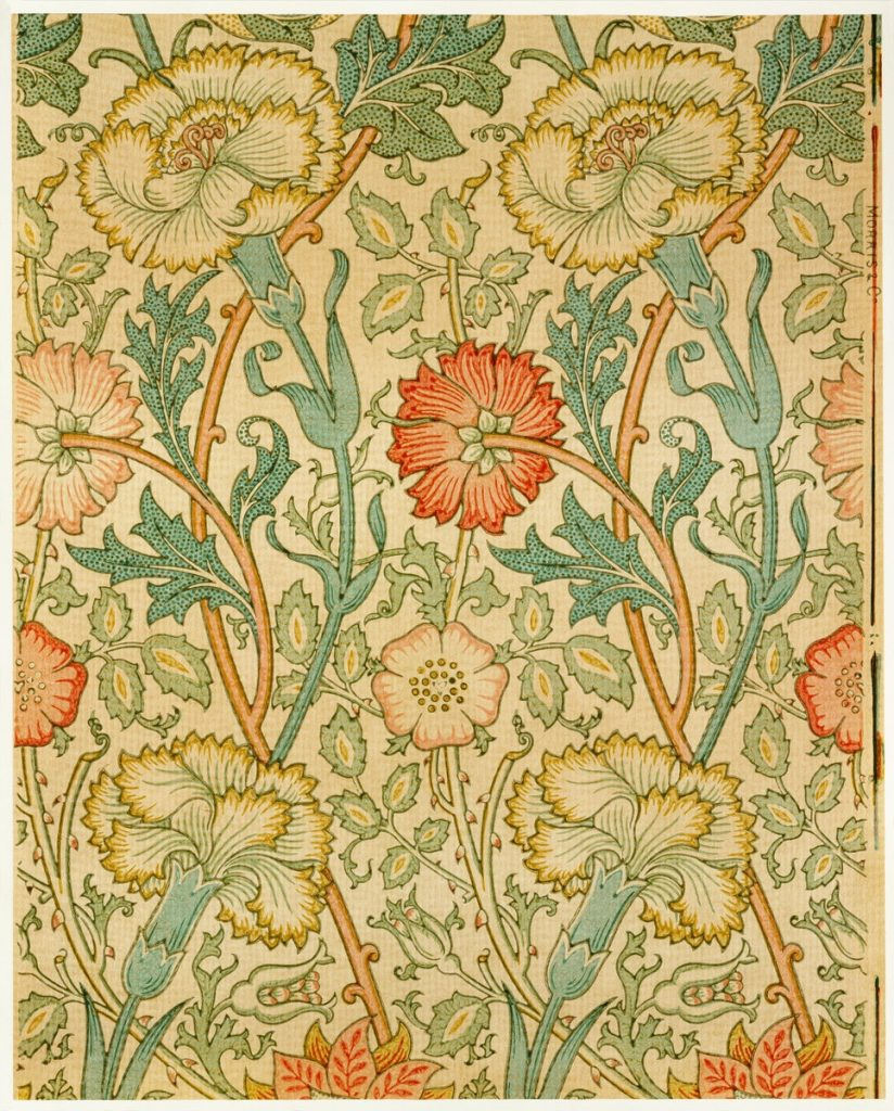 Immagini romantiche per San Valentino: pattern di William Morris