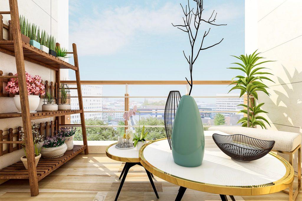 Arredare terrazze e balconi in stile Japandi