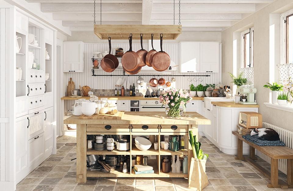Cucina stile cottagecore