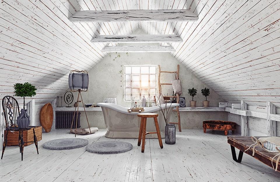Un grande bagno stile cottagecore